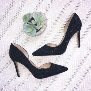INC International Concepts Black Glitter Heel